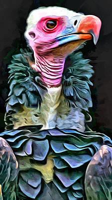Buzzard Digital Art - The Buzzard Portrait by Scott Wallace