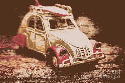 Vintage Car Photograph - The Bygone Surfing Holiday by Jorgo Photography - Wall Art Gallery