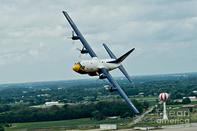 Us Navy Painting - the C-130  by Celestial Images