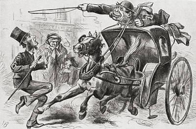 The Cab Fiend Of London. A 19th Century Art Print