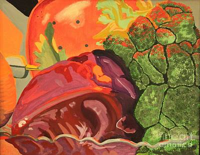 Broccoli Painting - The Cabbage Family by Terri Thompson