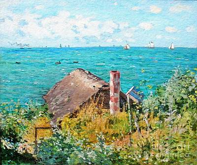 Painting - The Cabin At Saint-adresse  by Claude Monet