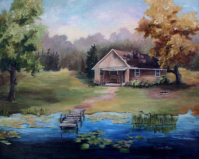 Painting - The Cabin by Brenda Thour