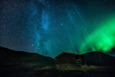 Milky Way Wall Art - Photograph - The Cabin by Tor-Ivar Naess