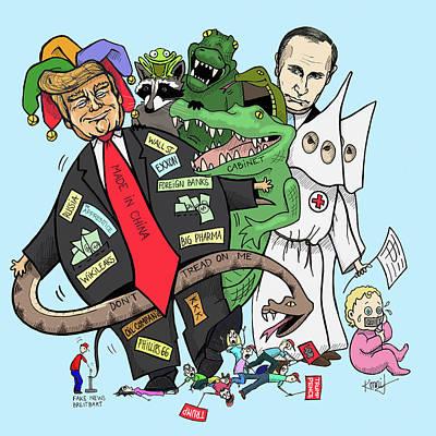 Putin Digital Art - The Cabinet by Konni Jensen