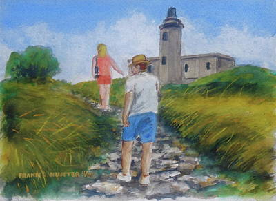 Painting - The Cabo Rojo Light House In Puerto Rico by Frank Hunter
