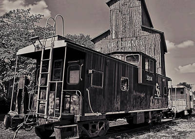 Photograph - The Caboose by Ron Grafe