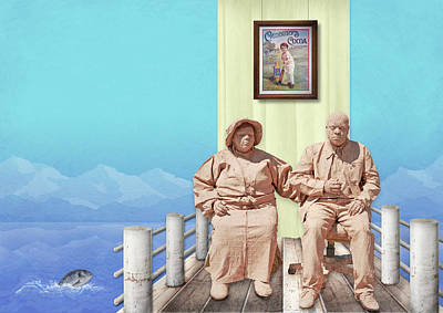 The Cadburys On Vacation Art Print by Marty Garland