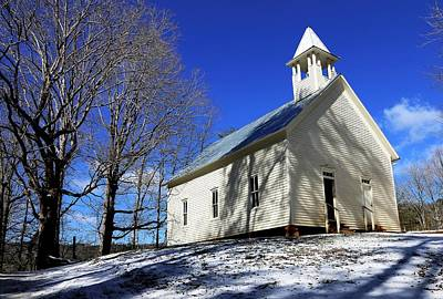 Photograph - Cades Cove Methodist Church by Carol Montoya