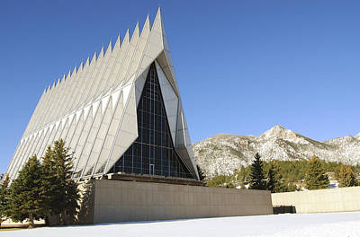 Photograph - The Cadet Chapel At The U.s. Air Force by Stocktrek Images
