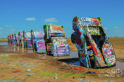 Blue Hues - The Cadillac Ranch by Tommy Anderson