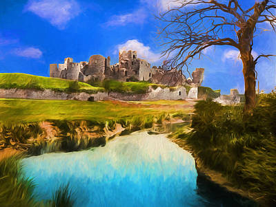 Photograph - The Caerphilly Castle - Remastered by Carlos Diaz