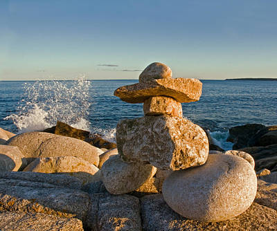Photograph - The Cairns Of Hunts Point Nova Scotia by Ginger Wakem