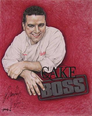 Buddy Drawing - The Cake Boss by Angela Hannah