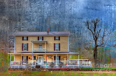 Digital Haunted House Photograph - The Caledonia Wine Cottage by Larry Braun
