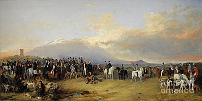 Caledonian Painting - The Caledonian Coursing Meeting  by Celestial Images