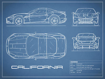Blueprint Photograph - The California Blueprint by Mark Rogan