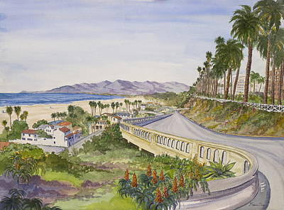 Santa Monica Painting - The California Incline by Bonnie Sue Schwartz