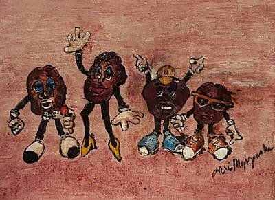 Claymation Painting - The California Raisins by Geraldine Myszenski