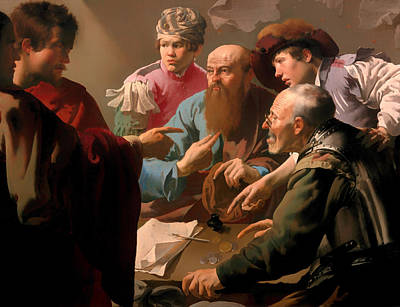 Christian Artwork Painting - The Calling Of Saint Matthew by Mountain Dreams