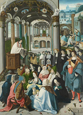 Catholic For Sale Painting - The Calling Of St Antony by Aertgen van Leyden