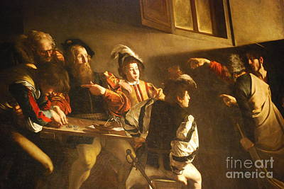 Caravaggio Painting - The Calling Of St. Matthew. by Celestial Images