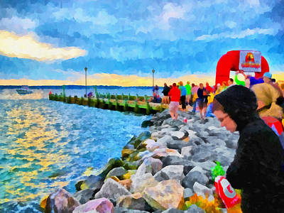 Art Print featuring the digital art The Calm Before The Race by Digital Photographic Arts