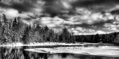 Photograph - The Calm Of Winter At The Green Bridge by David Patterson