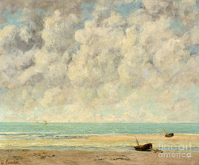 The Calm Sea, 1869  Art Print by Gustave Courbet