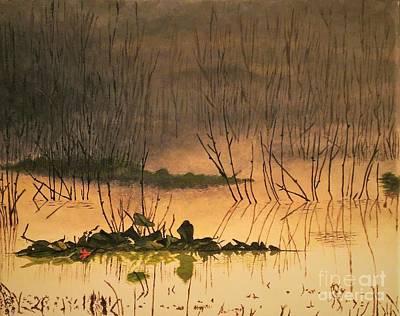 Eerie Painting - Calmness In The Swamp by Olga Zavgorodnya
