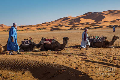 Photograph - The Camel Driver Of The Beautiful Sahara Desert by Rene Triay Photography