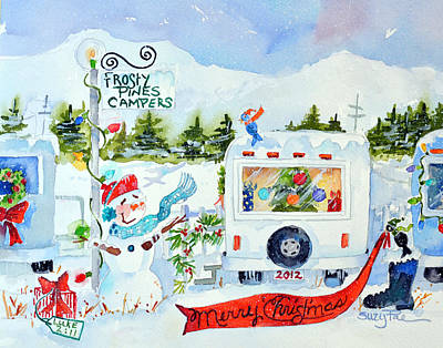 Camper Painting - The Campers by Suzy Pal Powell