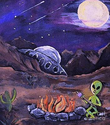 Painting - The Campfire by Valarie Pacheco