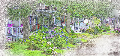 Digital Art - The Campground-martha's Vineyard by William Sargent