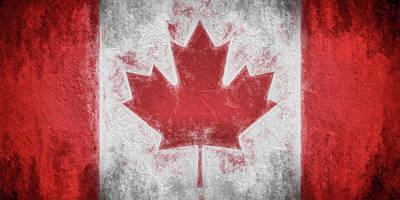 Digital Art - The Canadian Flag by JC Findley