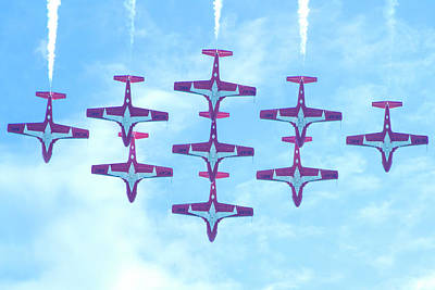 Photograph - The Canadian Snowbirds by Mark Andrew Thomas
