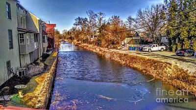 The Canal At New Hope In Winter Art Print
