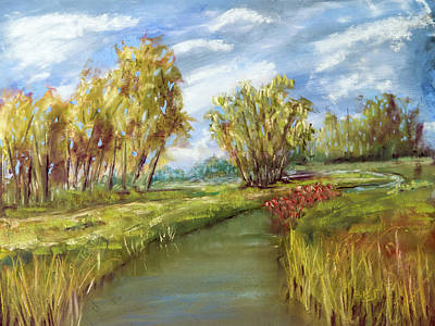 Painting - The Canal by Barry Jones