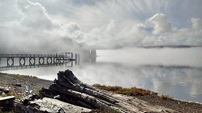 Washington Driftwood Beach Fog Wall Art - Photograph - The Canal by Jeff Burgess