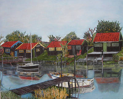 Charente Maritime Painting - The Canal by Kapy Art