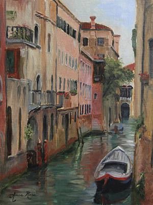 Venice Wall Art - Painting - The Canal Less Travelled by Anna Rose Bain