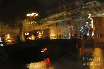 Abstract Shapes Janice Austin - The canal Saint Martin near the metro Jaures. by Alexander Vinogradov