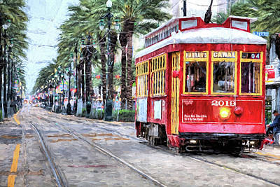 Photograph - The Canal Street Streetcar by JC Findley