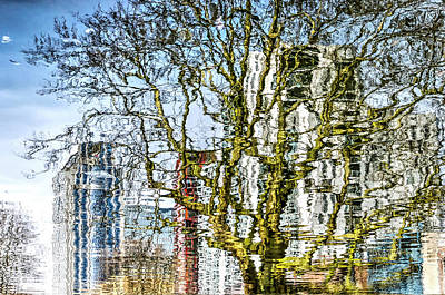 Digital Art - The Canal, The Calypso And The Plane Tree by Frans Blok
