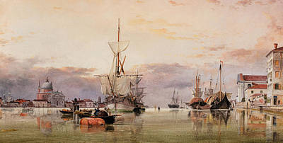 The Canale Della Giudecca With The Redentore Beyond Art Print by Edward William Cooke