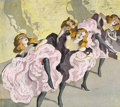 Suggestive Drawing - The Cancan, After Ferdinand Von by Vintage Design Pics
