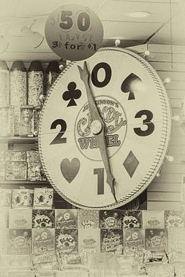 Photograph - The Candy Wheel Point Pleasant Boardwalk Sepia by Terry DeLuco