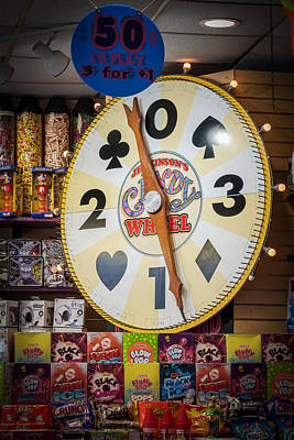 Photograph - The Candy Wheel Point Pleasant Boardwalk by Terry DeLuco
