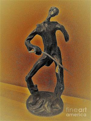 Mixed Media - The Cane Man. by Funmi Adeshina