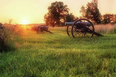 Photograph - The Cannons Of Pea Ridge - Arkansas - Civil War by Jason Politte